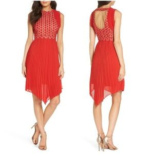 Foxiedox Nealea Pleated Sheath Dress
